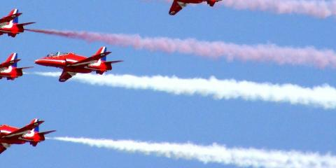 The Royal Air Force display team, the Red Arrows